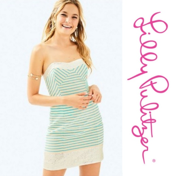Lilly Pulitzer Dresses & Skirts - 🆕️NWT Lilly Pulitzer Remi Turquoise+Silver Dress
